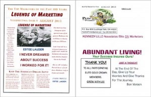 Pete Lillo 2 newsletters