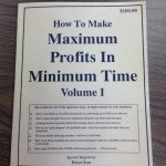 • How To Make Maximum Profits In Minimum Profits In Minimum Time Volume I