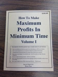 •How To Make Maximum Profits In Minimum Profits In Minimum Time Volume I