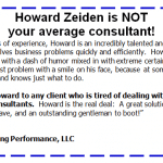 Craig Valine: Howard Zeiden is NOT your average consultant!