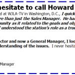 Steve Hammel: I never hesitate to call Howard for help.
