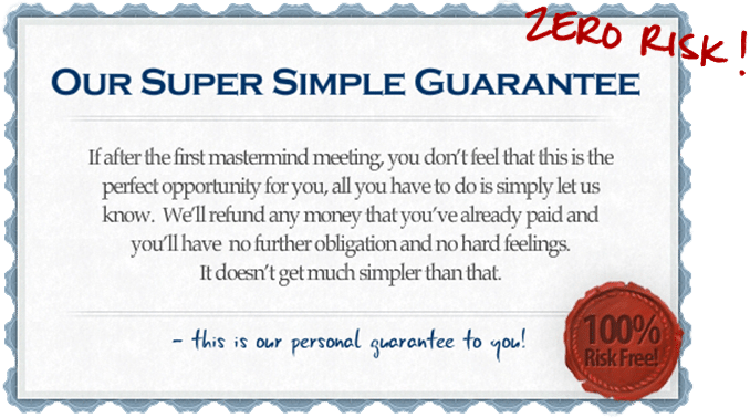 Zero Risk Super Simple Guarantee