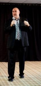 Dan Cricks presenting to mastermind group in Las Vegas 2013